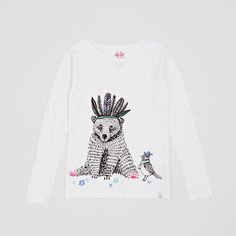 Animal Billie Bear Long Sleeved T-Shirt. Pin-To-Win your Christmas wish list at Surfdome!