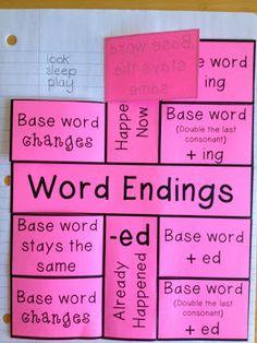 I Love 2 Teach: Word Endings Foldable {Freebie}