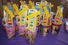 Art Tangled Birthday Party Favors! rapunzel-party-ideas