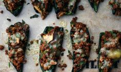 Chile Rellenos (Mexican Stuffed Peppers) Chorizo is my favorite part of Paleo! Paleo Recipes, Mexican Food Recipes, Low Carb Recipes, Whole Food Recipes, Cooking Recipes, Mexican Dishes, Clean Recipes, Mexican Stuffed Peppers, The Fresh