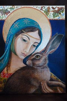 Jemima Jameson: The Lady and the Hare Rabbit Crafts, Rabbit Art, Flemish Giant Rabbit, Rabbit Tattoos, 1920s Art, Bunny Art, Animal Totems, Woodland Creatures, Sacred Art