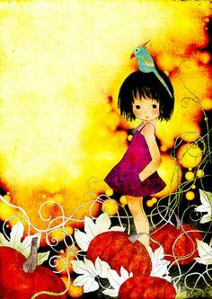 pumpkin girl by moonywolf.deviantart.com on @deviantART