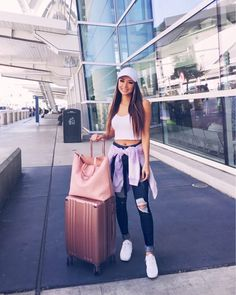Jessica Ricks Off to Charleston DC and Coachella Outfit details in the liketoknow.it app: Jessica Ricks, Cute Airport Outfit, Cute Travel Outfits, Hapa Time, Denim Sandals, Tank Top Outfits, Crop Tops, White Tank, Tankini Top