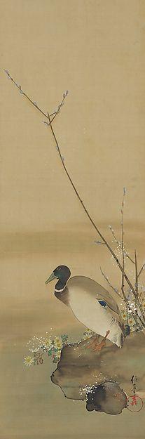 November - Sakai Hōitsu (1761-1828) - Birds and Flowers of the Twelve Months (1817-28)