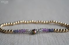 Gemstone & Goldfilled Bracelet by ATELIERGabyMarcos on Etsy, $49.00