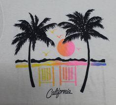 Vintage 80s Hawaii California Beach Aloha T Shirt Surf Tourist Hawaiian 50 50 | eBay
