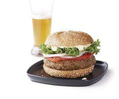 umami+bomb+mushroom+burgers sub snap peas for endamame Mushroom Veggie Burger, Veggie Burgers, Vegetarian Recipes, Healthy Recipes, Burger Recipes, Healthy Foods, Healthy Eating, Chickpea Burger, Kitchens