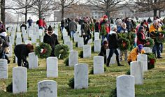 """Thousands Flock to Arlington National Cemetery to Lay Wreaths in Honor of Fallen  ▬ """"Remember. Honor. Teach.""""  That's the message Wreaths Across America wanted to impart through this weekend's wreath laying event at Arlington National Cemetery. If the thousands of volunteers who gave up their Saturday morning were any indication, the organization was successful. [...] 12/16 - ***NEVER FORGET OUR FALLEN....."""