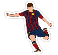 'Lionel Messi' Sticker by -SkyCaptain- Lionel Messi Barcelona, Barcelona Soccer, Fc Barcelona, Messi Birthday, Soccer Birthday, Ronaldo Real Madrid, Soccer Girl Problems, Manchester United Soccer, Soccer Quotes