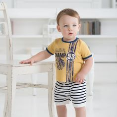 Cotton T-shirt with Print | Dave Bella Kids Clothes