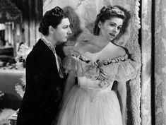 """Rebecca"" (1940) Judith Anderson as Mrs Danvers, Joan Fontaine"
