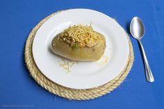 Receita de batata recheada fácil de fazer