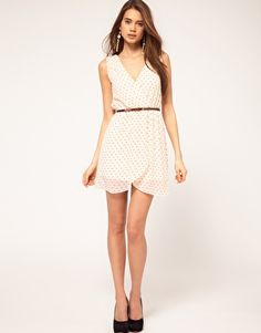 TFNC Dress with Wrap Front in Flocked Heart  $68.04