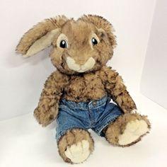 "Build-A-Bear Workshop Hop Plush Stuffed Bunny Rabbit Jean Shorts 13"" #BuildABearWorkshop"