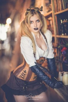 Steampunk girls with nice curves - amy wilderness