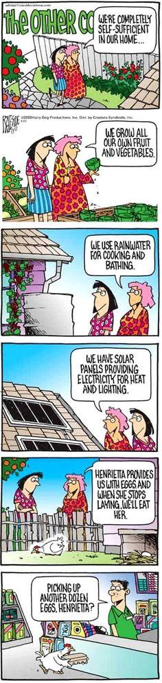 Chicken humor.