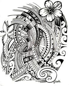 Tattoo symbols of Polynesia