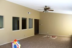 Family room paint color - One that I don't want to change, just freshen up a bit. A warm, not too dark neutral. Interior Wall Colors, Wall Paint Colors, Paint Colors For Living Room, Interior Walls, Room Colors, Condo Decorating, Decorating Ideas, Decor Ideas, Paint Themes