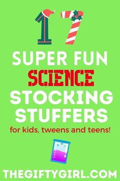 Stocking Stuffers are a great opportunity to give small but FUN gifts! These science stocking stuffers will keep kids of all ages busy with interesting STEM activities. Check out 17 Super Science Stocking Stuffers and watch your kids' eyes light up on Christmas morning!