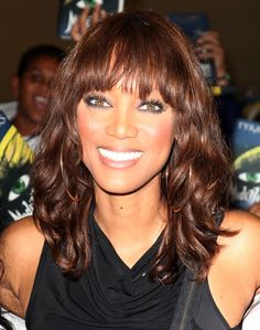 Tyra�s bangs aren�t perfect, but they�re wispy and not rigid. She looks amazing!Photo Credit: FilmMagic via StyleList