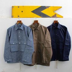Sherpa shirt in chambray & poplin. Catalogue available on request. Contact: richard@hawkwoodmercantile.com