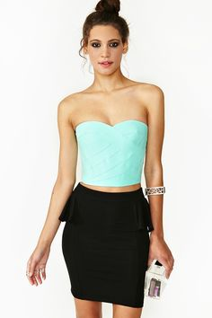 Borderline Bustier - Mint in Clothes at Nasty Gal
