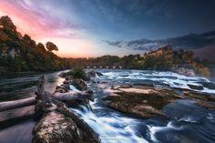 "euph0r14: "" landscape | Autumn colors on the ""Rheinfall"" | by ManuelMartin1972 | http://ift.tt/1Okshg2 """