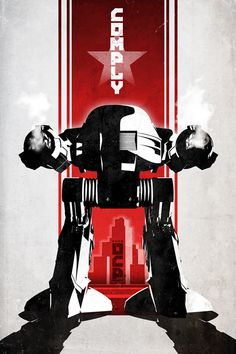 RoboCop alternative movie poster designedby DirtyGreatPixels