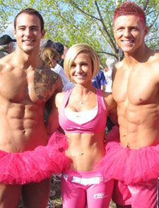 2010 Race for the Cure - Run with Breast Cancer survivor Jamie Eason