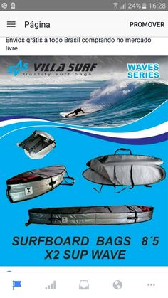 Surfboard bags x2 sup wave