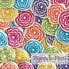 Crochet: granny con trenzas de vainillas para hacer una manta o cobija!