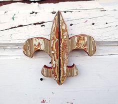 distressed fleur de lis new orleans decor louisiana decor fluer de lis salvaged wood art rustic fleur de lis reclaimed wood decor