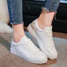 $25.30 (Buy here: https://alitems.com/g/1e8d114494ebda23ff8b16525dc3e8/?i=5&ulp=https%3A%2F%2Fwww.aliexpress.com%2Fitem%2FWomen-Casual-Shoes-Brand-Summer-Skate-Shoes-White-Classic-Trainers-Lace-Up-Basket-Femme-Chaussure-Femme%2F32676912677.html ) Women Casual Shoes Brand Summer Skate Shoes White Classic Trainers Lace-Up Basket Femme Chaussure Femme Flat Shoes No Logo for just $25.30