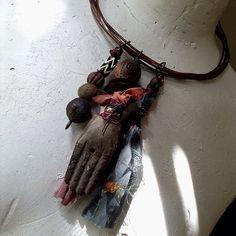 Copper Choker necklace rustic primitive necklace rustic by quisnam
