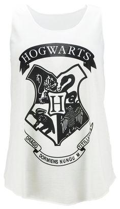 Ladies Tank top Vest with Hogwart Print - V-77(Cream): Amazon.co.uk: Clothing