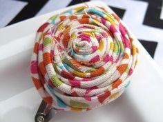 Confetti Rosette Flower Clip