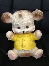 1962 Vintage Edward Mobley Squeaky Bear With Sleep Eyes - Arrow Rubber