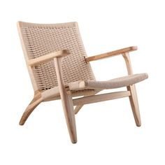 Modern Woven Lounge Chair Weave the sitting area and the leaning area
