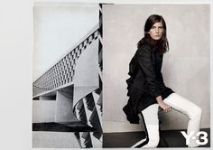 Valerija Kelava for Y-3 Spring 2012 - collage style series of images featuring xeroxed photographs of the archival city of Brasilia.