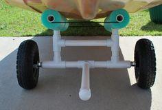 Kayak Tips Diy Palmetto Kayak Fishing: DIY Bulletproof Kayak Cart - Build Instructions Pics Fishing Cart, Kayak Fishing, Fishing Boats, Kayak Boats, Fishing Tips, Canoe Cart, Kayak Cart, Ocean Kayak, Canoe And Kayak