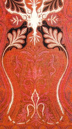 Kashmir Paisley Shawl and its Enduring Contribution to the Paisley Motif Indian Patterns, Textile Patterns, Textile Design, Fabric Design, Print Patterns, Pattern Design, Paisley Pattern, Abstract Pattern, Paisley Print