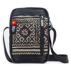 Passport Hemp shoulder bag  mobile phone Document utility purse for travel boho