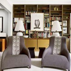 Retro modern-style seating area