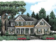 Farmhouse House Plan with 3246 Square Feet and 4 Bedrooms from Dream Home Source | House Plan Code DHSW53478