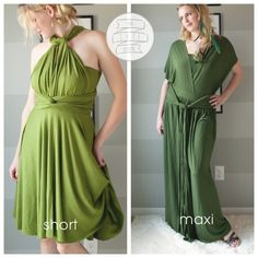 Check out this fantastic DIY Wrap Dress Tutorial! (Convertible wrap dress, transformer wrap dress, infinity wrap dress, etc.) Easy sewing project for the beginner seamstress.