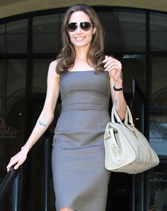 5e1878838bd The Many Bags of Angelina Jolie - Yves Saint Laurent Cabas Chyc Tote  Angelina Jolie Style