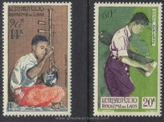 Laos Stamps - Scott C25-6, NC, MNH, F-VF by Great Wall Bookstore, Las Vegas. $1.50