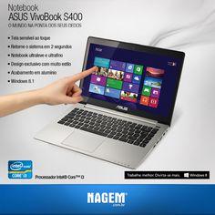 Ultraleve e com design sofisticado. O poderoso Notebook Asus VivoBook, com processador Intel® Core i3, possui áudio SonicMaster impressionante. #OfertaNagem