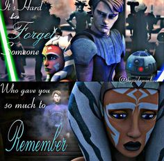 Anakin and Ahsoka have a long history. They were best friends. But he changed into something he's not and doesn't want to remember who he was