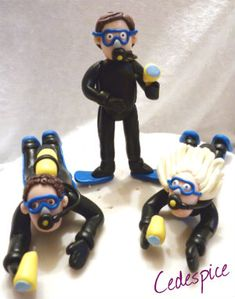 Personalized Scuba Diver Cake Topper Decoration Any Name and Age | eBay